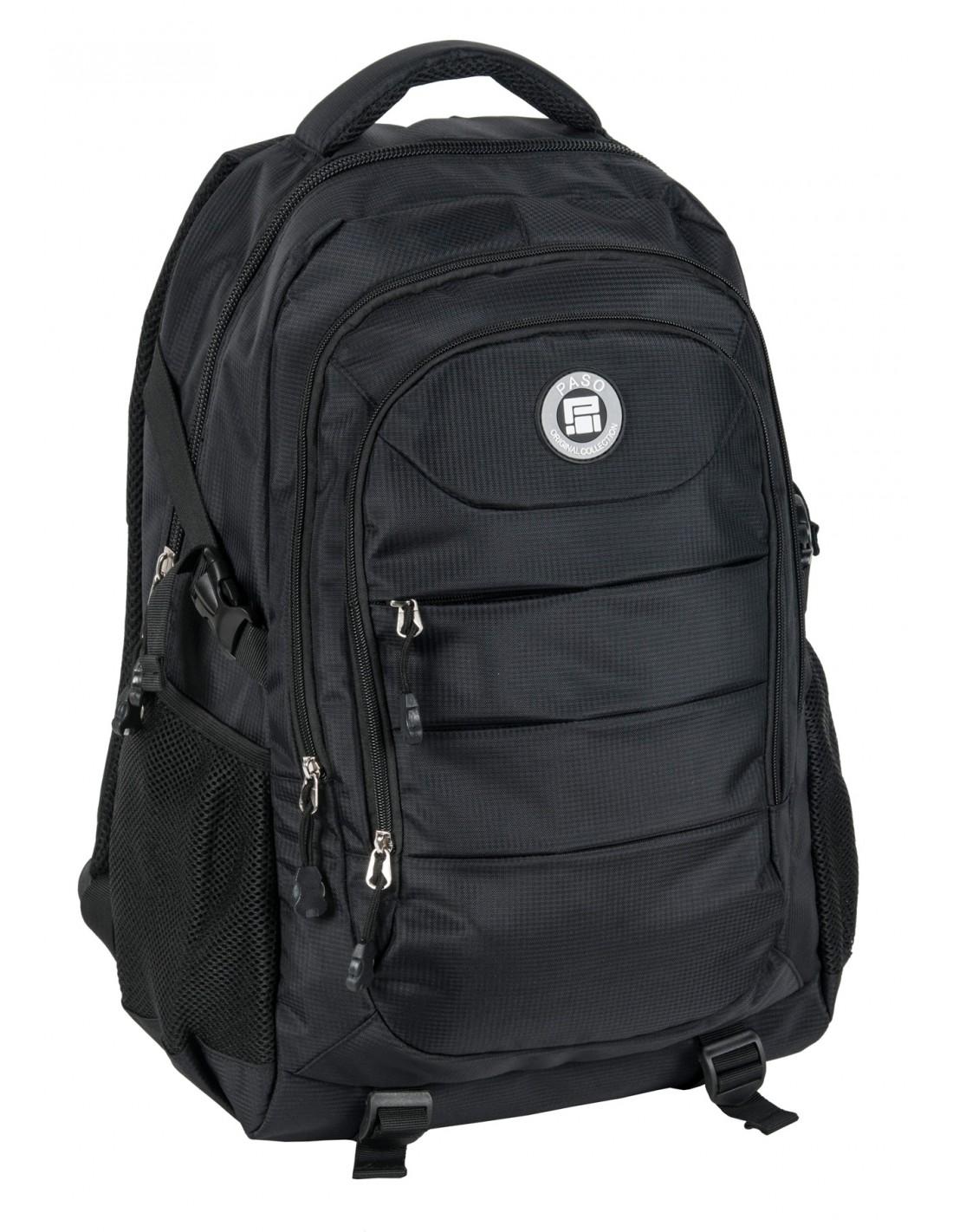 8ffd8a0442e87 Plecak młodzieżowy czarny Paso 19-30060BC